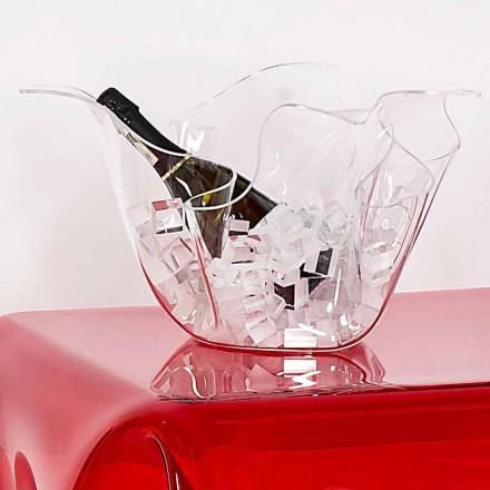 Vazo transparente / e mbyllur, dizajn modern Pina, i bërë në Itali