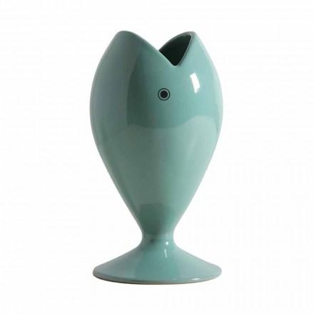 Vazo me lule qeramike moderne artizane e prodhuar në Itali - breg deti