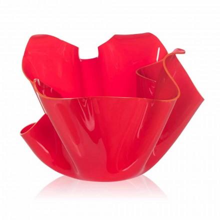 Dizajn modern pusi i jashtëm / shtëpia Pina, fund i kuq, i bërë në Itali
