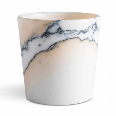 Vazo e rrumbullakosur në Mermer Paonazzo Made in Italy, 5 Pieces - Murlino