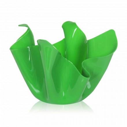 Tenxhere jeshile / shtëpie e brendshme me një model modern Pina, e bërë në Itali